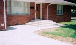 Bill's Custom Concrete Driveway Porch