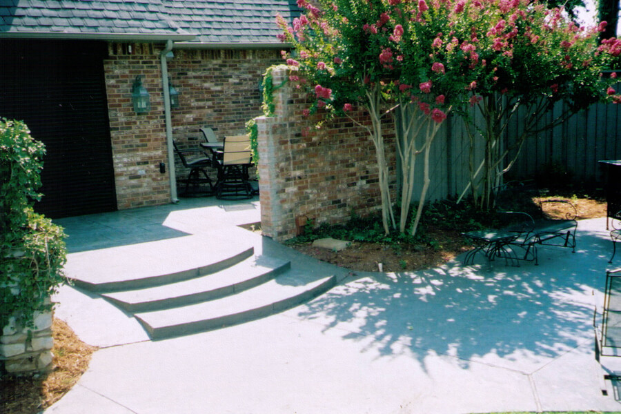 Bill's Custom Concrete Sidewalk Stairs