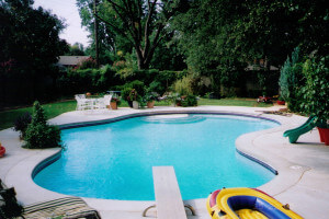 Concrete Decking For Swimming Pool