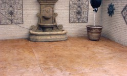 Stained Concrete Back Patio