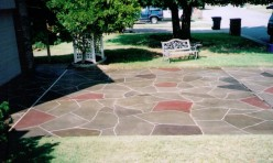 Patterned Concrete Driveway