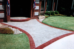 Decorative Concrete Sidewalk in Oklahoma City