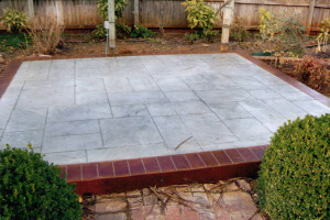 Stained Patterned Concrete Patio