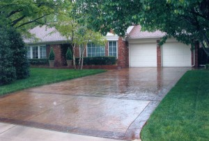 Stained Concrete Driveway in Oklahoma
