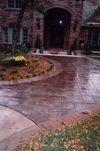 Stained Concrete Sidewalk Nichols Hills Oklahoma