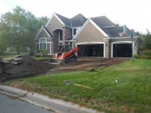 Excavation for Driveway in Mustang