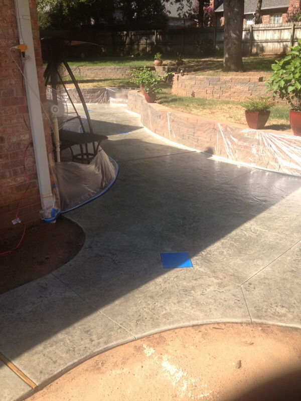 Decorative Concrete Patio in Oklahoma City