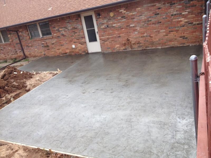 Textured Concrete Patio Oklahoma City