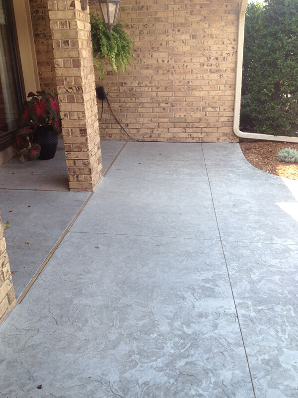 Textured Concrete Patio  in Oklahoma City Oklahoma
