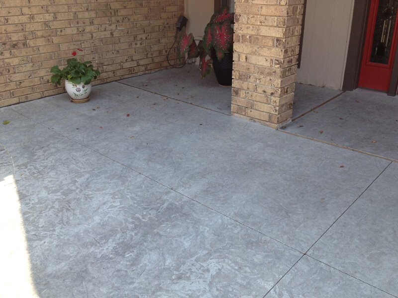 Textured Concrete Patio in Oklahoma City
