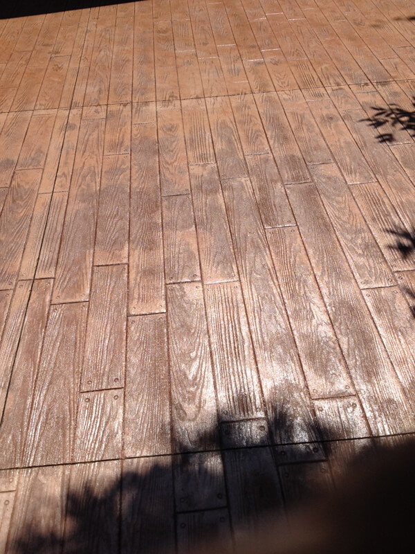 Wood Textured Concrete Stamping