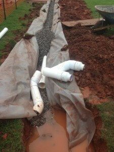 Yard Drainage Solutions in Mustang