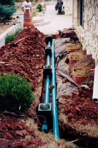 Yard Drainage System Installation in Midwest City, OK