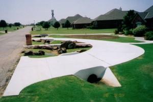 Circular Concrete Driveway - Norman, OK