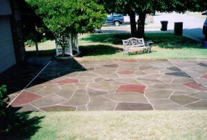 Patterned Concrete Driveway - Warr Acres, OK