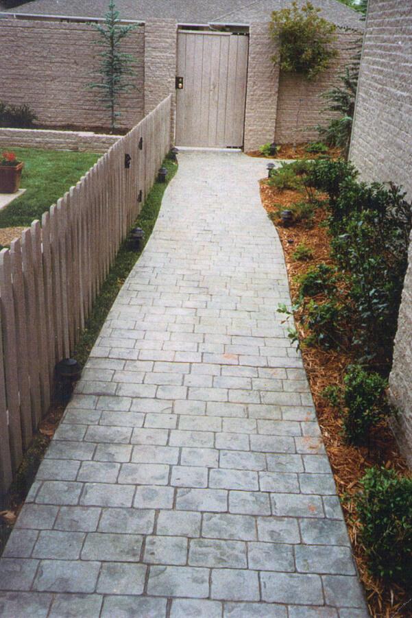 Patterned Concrete Sidewalk OKC