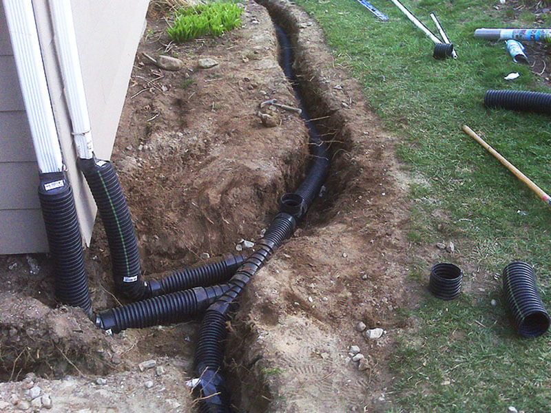 Professional yard drainage systems in edmond oklahoma for Outside drainage system