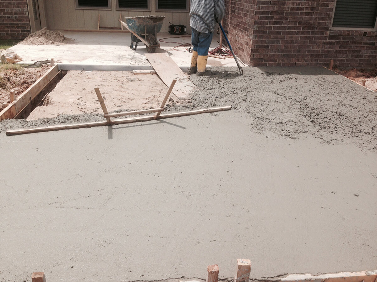 Concrete Patio Installation Oklahoma City
