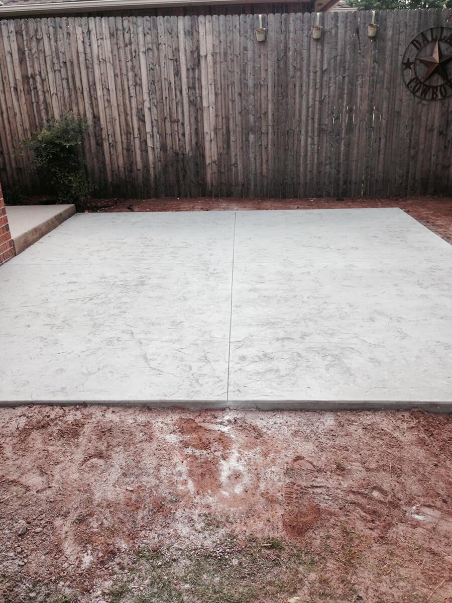 Decorative Concrete Patio OKC