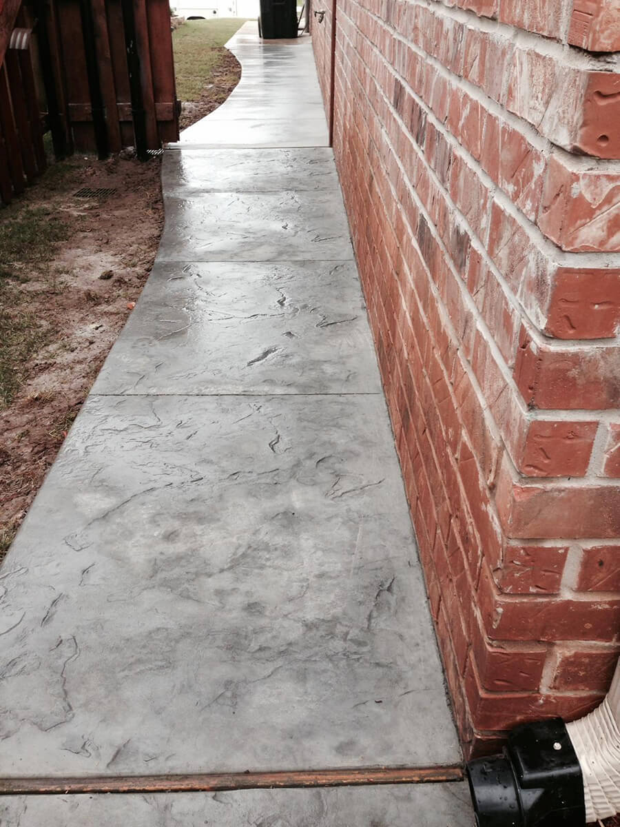 Decorative Concrete Sidewalk OKC