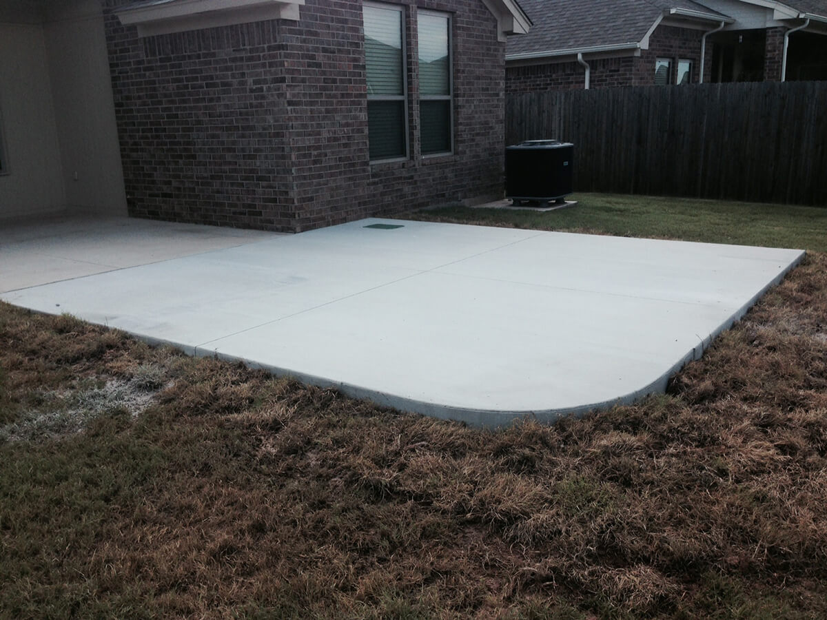 New Concrete Back Patio Installation Oklahoma City