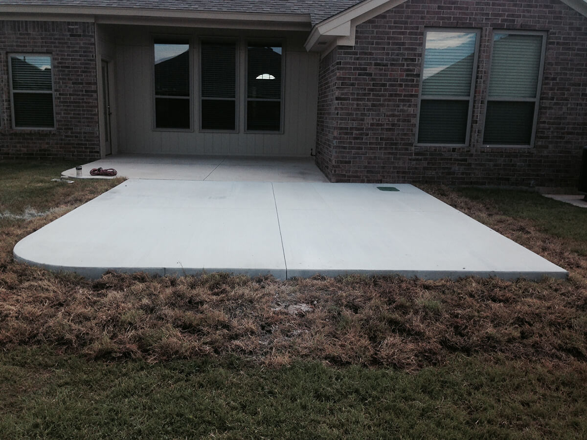 New Concrete Patio by Bills Custom Concrete