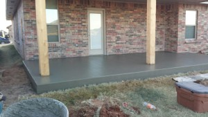 New Concrete Patio in Oklahoma City