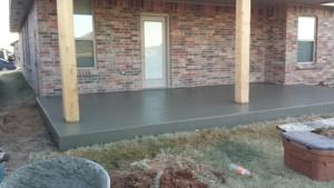 New Concrete Patio in Oklahoma City