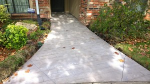 Stamped Concrete Sidewalk in Oklahoma City