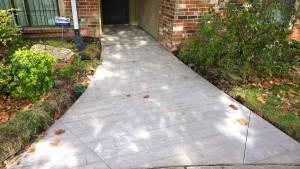 Stamped Concrete Sidewalk in Oklahoma City