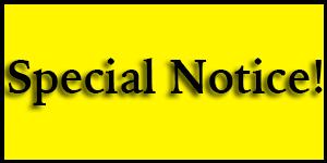 Special Notice Banner