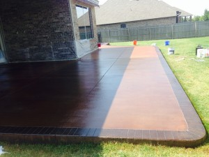 Stained Concrete Patio in Oklahoma City