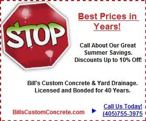 Bills Custom Concrete - Summer 2016 Coupon2