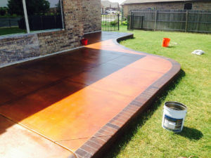 Concrete Contractor - Stained Concrete Patio