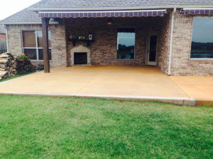 Stained Concrete Patio - Mustang Oklahoma