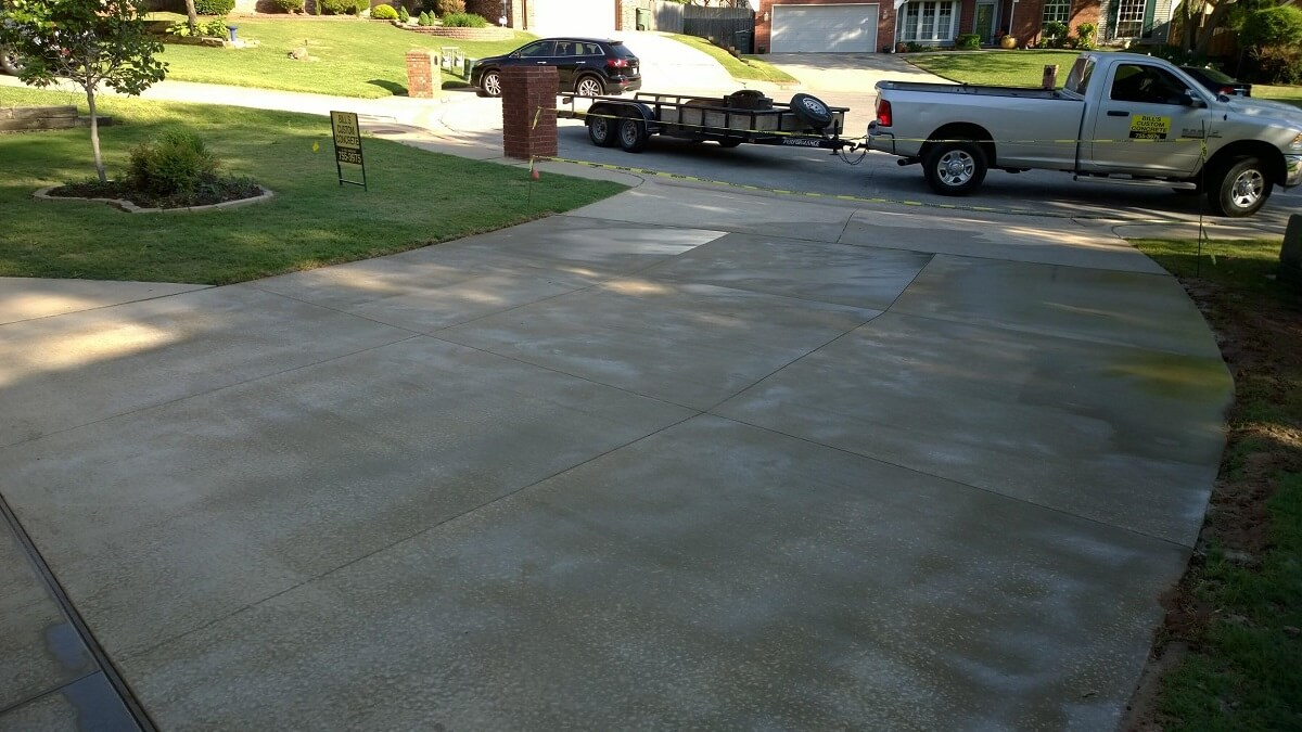 Building a professional concrete driveway in newcastle for New concrete driveway