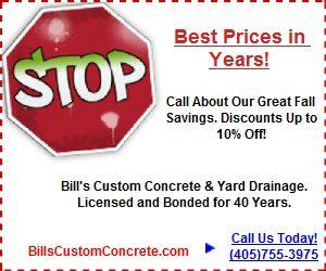 Bills Custom Concrete Fall 2016 Coupon