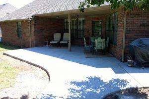Concrete Patio in Edmond Oklahoma